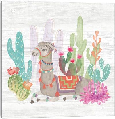 Lovely Llamas I Canvas Art Print
