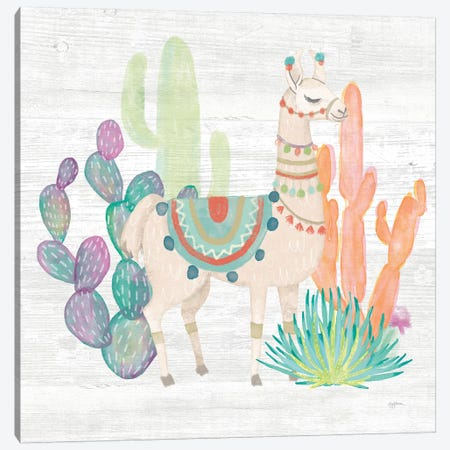 Lovely Llamas II Canvas Print #WAC9168} by Mary Urban Canvas Art Print