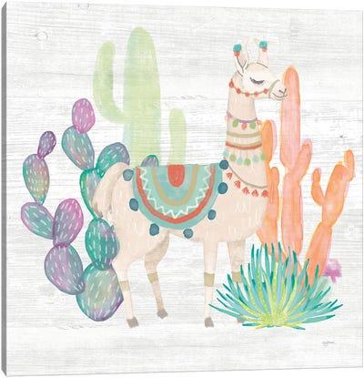 Lovely Llamas II Canvas Art Print