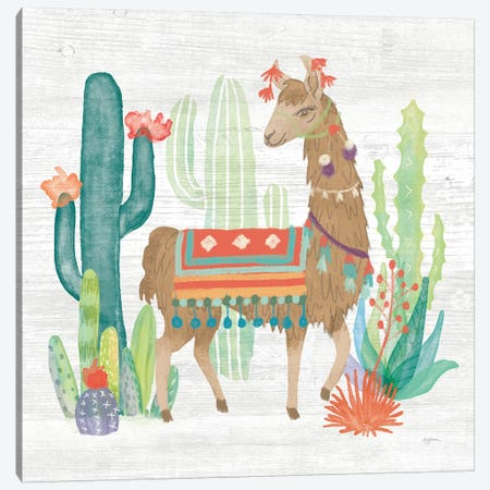 Lovely Llamas III Canvas Print #WAC9169} by Mary Urban Art Print