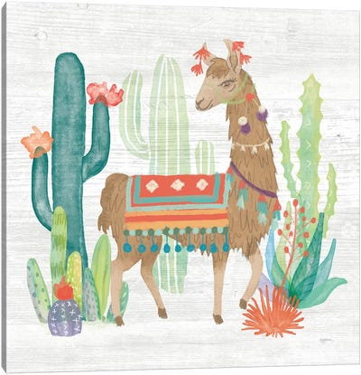 Lovely Llamas III Canvas Art Print