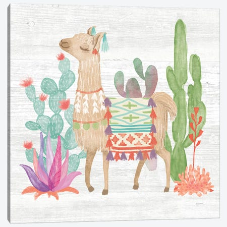 Lovely Llamas IV Canvas Print #WAC9170} by Mary Urban Canvas Artwork