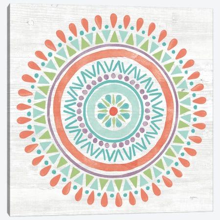 Lovely Llamas Mandala I Canvas Print #WAC9171} by Mary Urban Canvas Wall Art