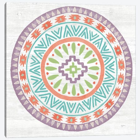 Lovely Llamas Mandala II Canvas Print #WAC9172} by Mary Urban Canvas Wall Art