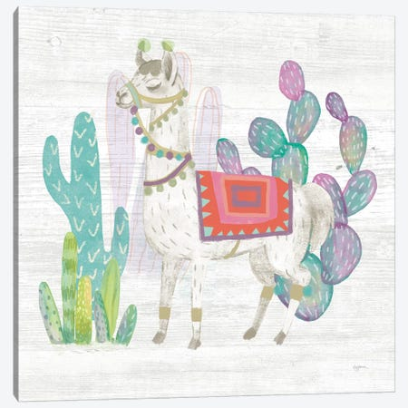 Lovely Llamas V Canvas Print #WAC9173} by Mary Urban Canvas Art