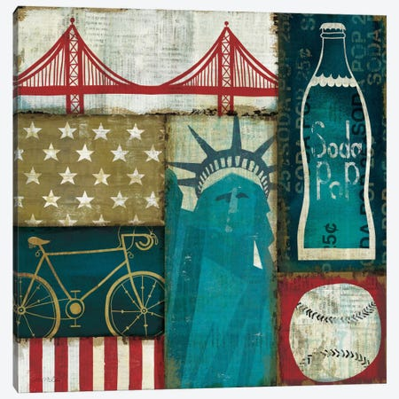 American Pop I Canvas Print #WAC918} by Michael Mullan Canvas Wall Art