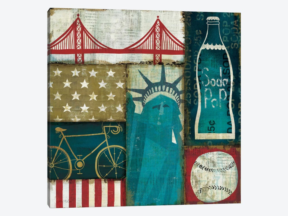 American Pop I by Michael Mullan 1-piece Canvas Print