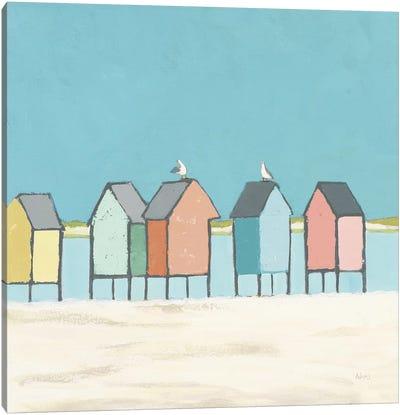 Cabanas II Pastel Canvas Art Print