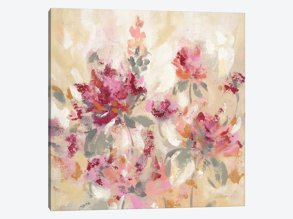 Floral Reflections I by Silvia Vassileva 1-piece Canvas Print