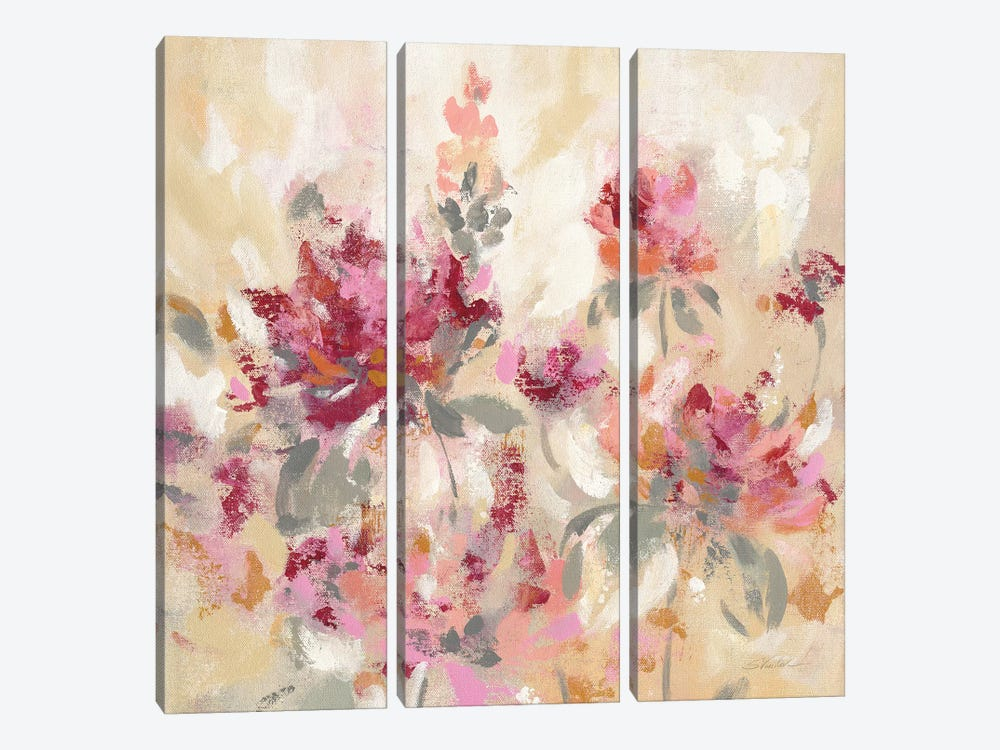 Floral Reflections I by Silvia Vassileva 3-piece Canvas Art Print