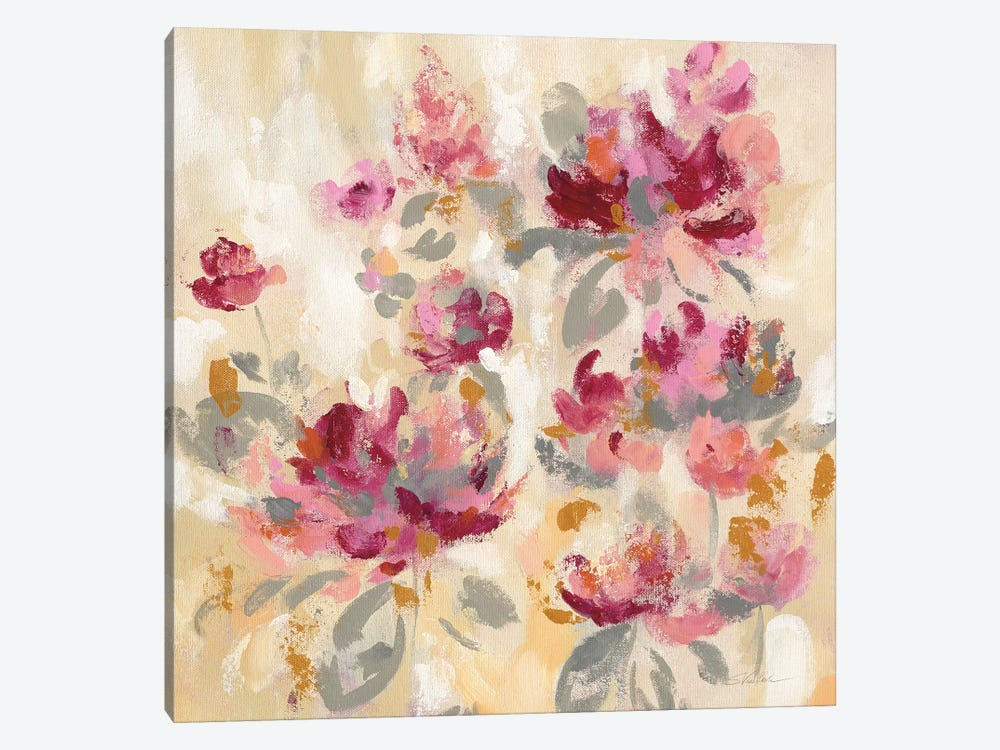 Floral Reflections II by Silvia Vassileva 1-piece Canvas Artwork