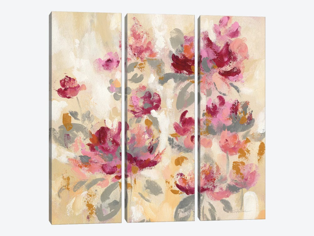 Floral Reflections II by Silvia Vassileva 3-piece Canvas Artwork