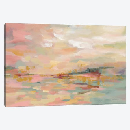 Pink Waves Canvas Print #WAC9198} by Silvia Vassileva Canvas Art