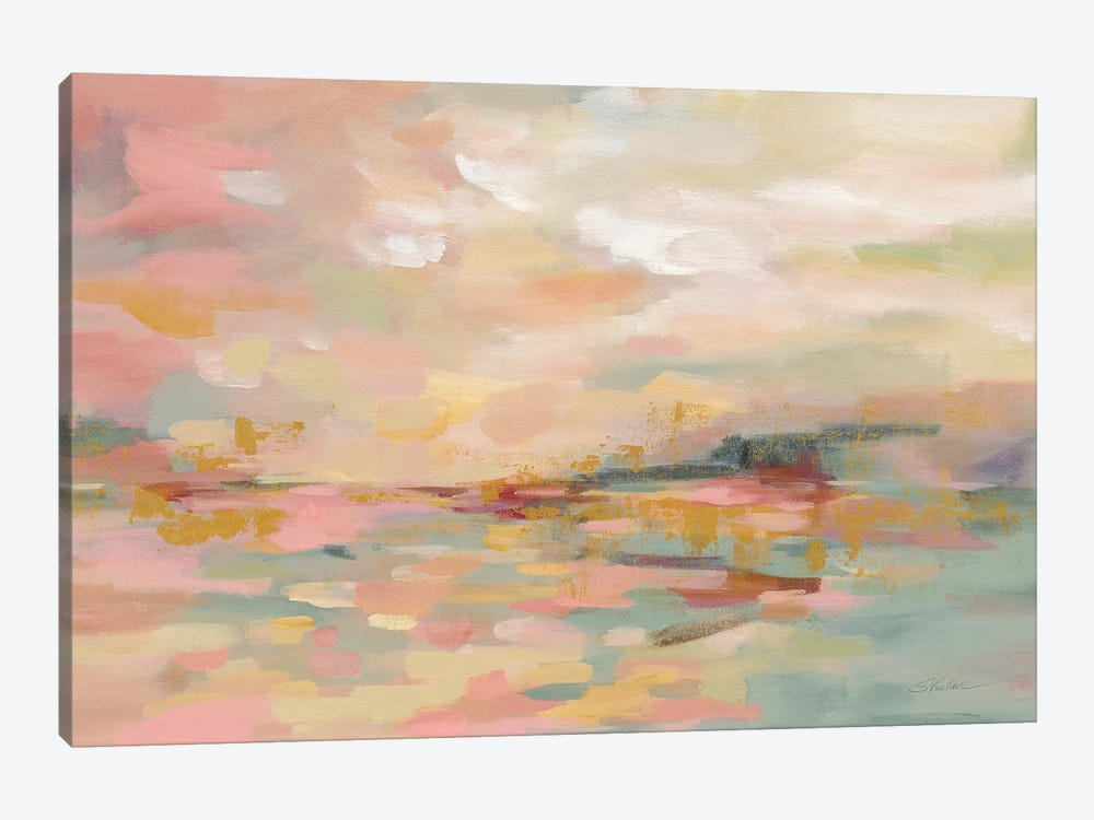 Pink Waves by Silvia Vassileva 1-piece Canvas Print