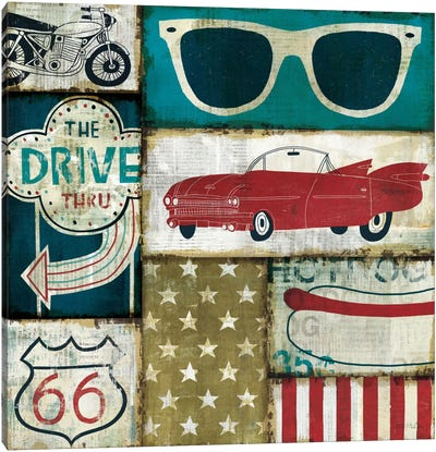 American Pop II Canvas Art Print