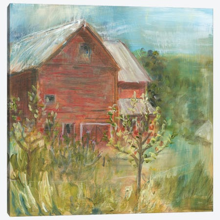 Barn Orchard Canvas Print #WAC9200} by Sue Schlabach Canvas Artwork