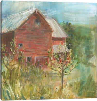 Barn Orchard Canvas Art Print