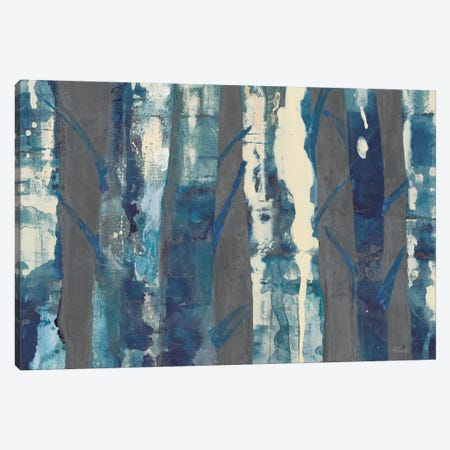 Deep Woods III, Indigo On Gray Canvas Print #WAC9214} by Albena Hristova Canvas Artwork
