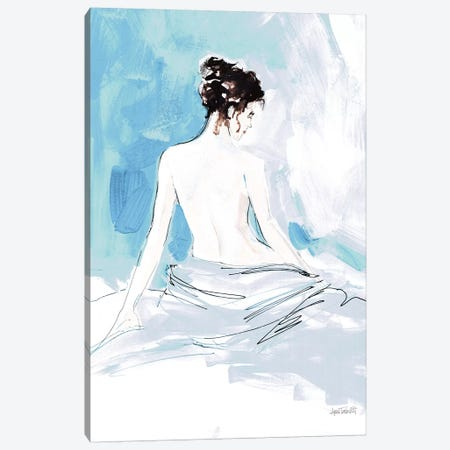 Nude I, Blue Canvas Print #WAC9217} by Anne Tavoletti Canvas Artwork