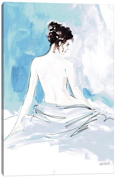 Nude I, Blue Canvas Art Print