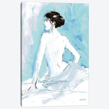 Nude II, Blue Canvas Print #WAC9218} by Anne Tavoletti Art Print