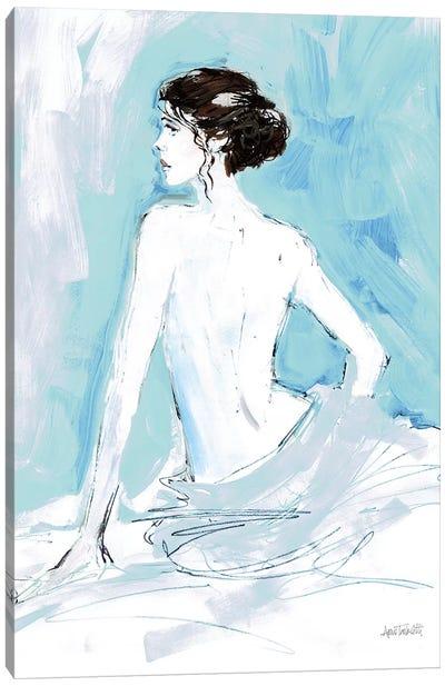 Nude II, Blue Canvas Art Print