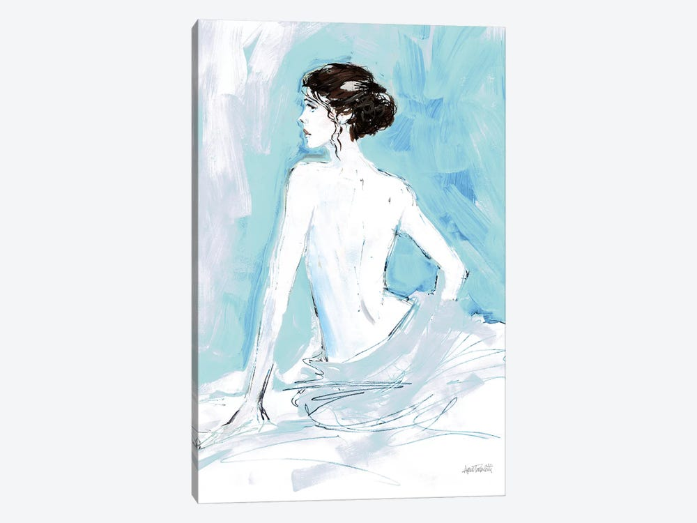 Nude II, Blue by Anne Tavoletti 1-piece Art Print