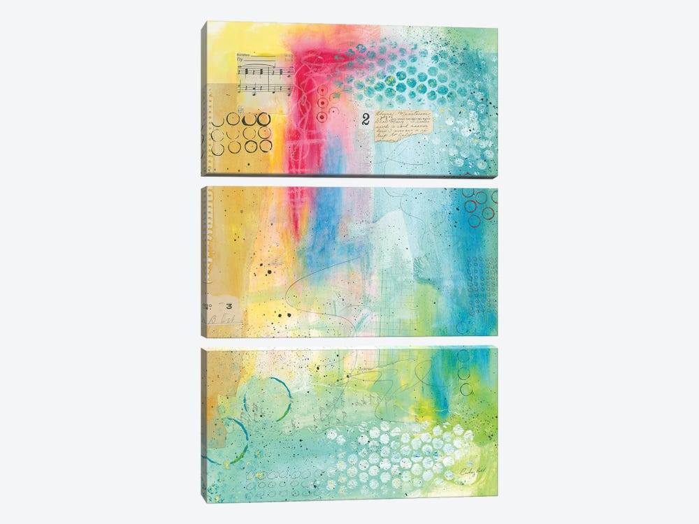 Collage 2 by Courtney Prahl 3-piece Canvas Wall Art