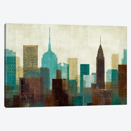 Summer in the City I Blue Canvas Print #WAC922} by Michael Mullan Canvas Art Print
