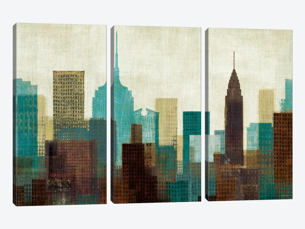 Summer in the City I by Michael Mullan 3-piece Canvas Wall Art