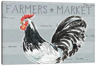 Rooster's Call I, No Dots Canvas Art Print