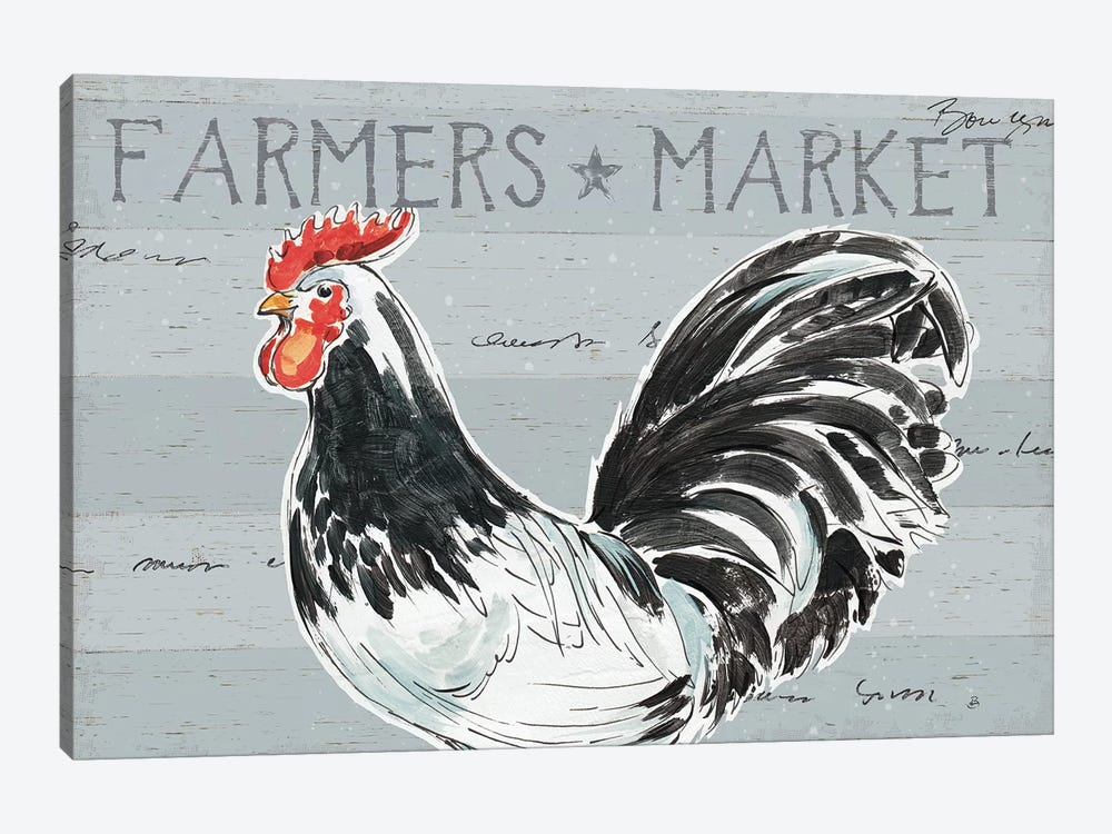 Rooster's Call I, No Dots by Daphne Brissonnet 1-piece Canvas Art Print
