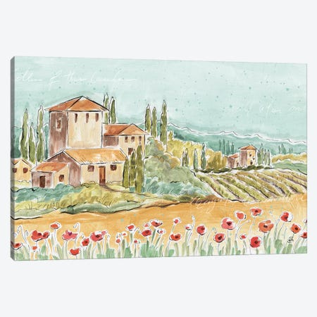 Tuscan Breeze I, No Grapes Canvas Print #WAC9231} by Daphne Brissonnet Art Print