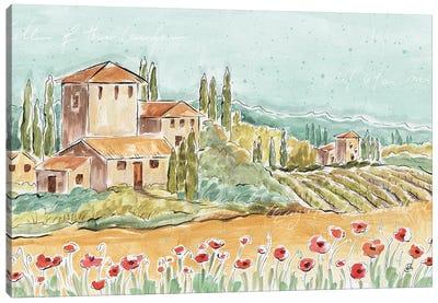 Tuscan Breeze I, No Grapes Canvas Art Print