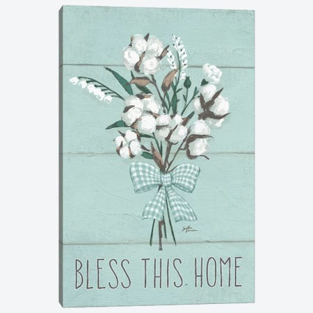 Blessed II, Mint 3-Piece Canvas #WAC9238} by Janelle Penner Canvas Print