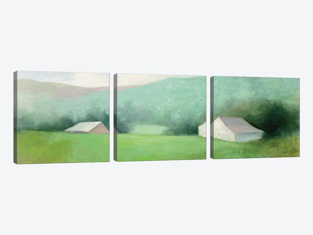 Looking Down The Valley by Julia Purinton 3-piece Canvas Wall Art
