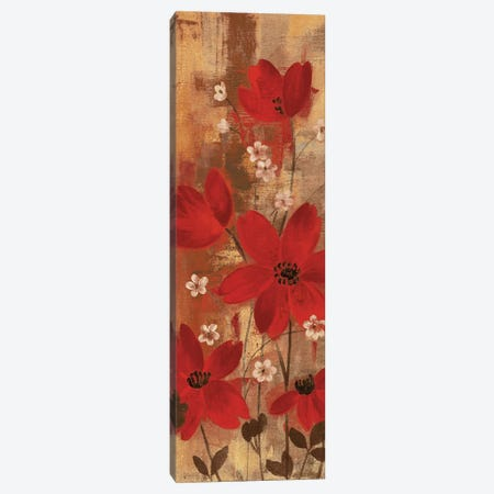 Floral Symphony Red I Canvas Print #WAC9254} by Silvia Vassileva Canvas Artwork