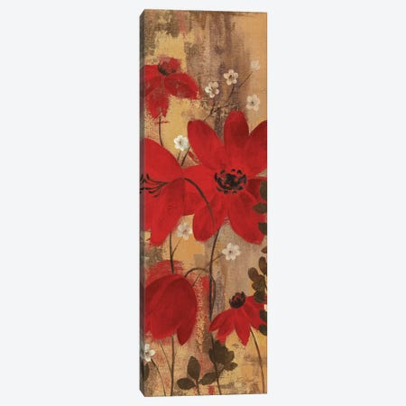 Floral Symphony Red II Canvas Print #WAC9255} by Silvia Vassileva Canvas Artwork