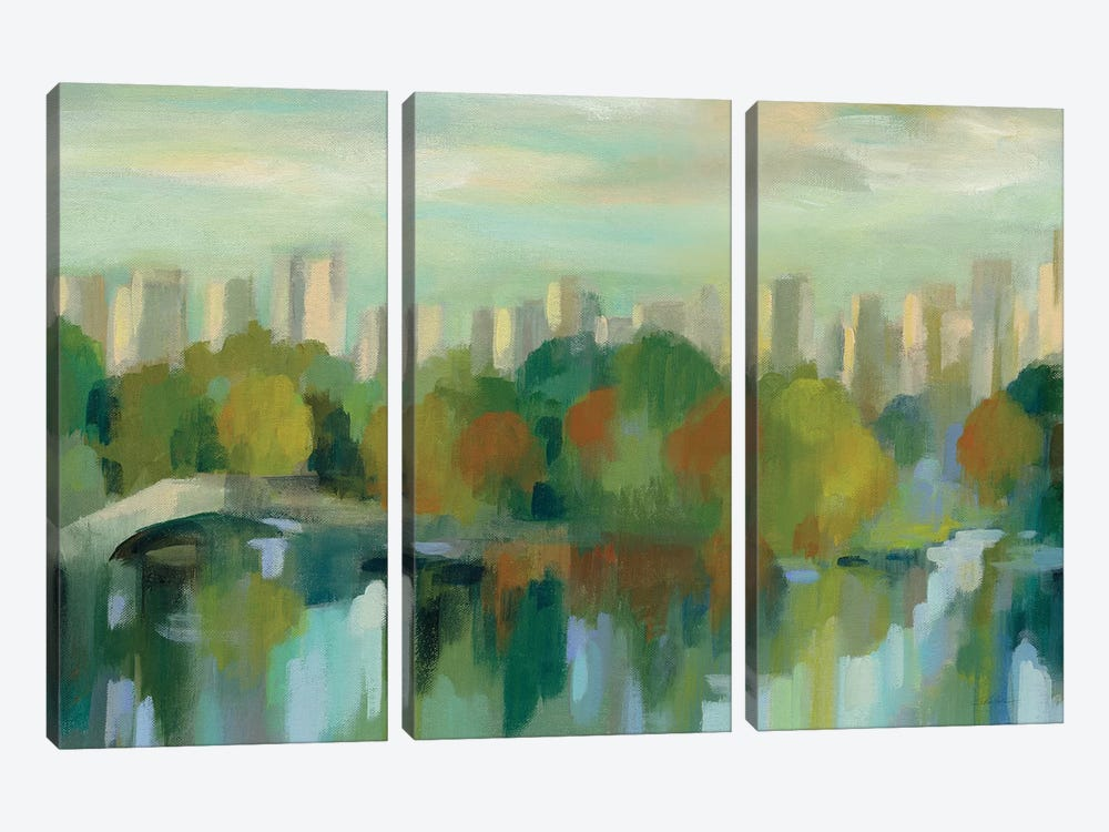 Manhattan Sketches VII by Silvia Vassileva 3-piece Canvas Art Print