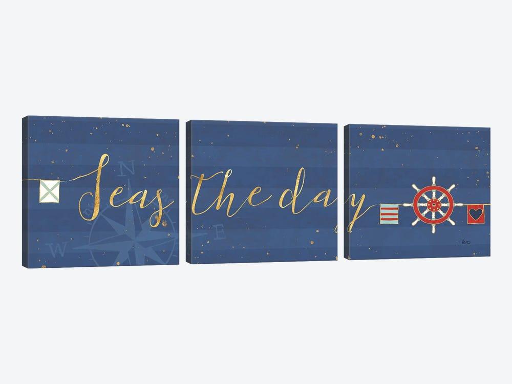 Underlined Nautical VI by Veronique Charron 3-piece Canvas Art