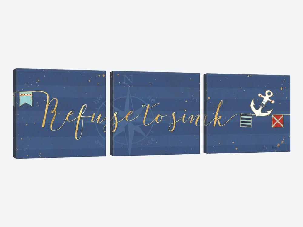 Underlined Nautical VIII by Veronique Charron 3-piece Canvas Art