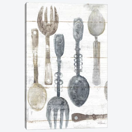 Spoons And Forks II Neutral Canvas Print #WAC9274} by Albena Hristova Canvas Art