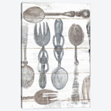 Spoons And Forks III Neutral Canvas Print #WAC9275} by Albena Hristova Canvas Wall Art