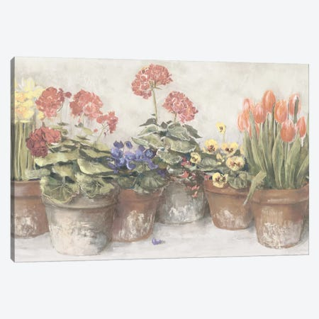 Spring In The Greenhouse Neutral Canvas Print #WAC9280} by Carol Rowan Canvas Artwork