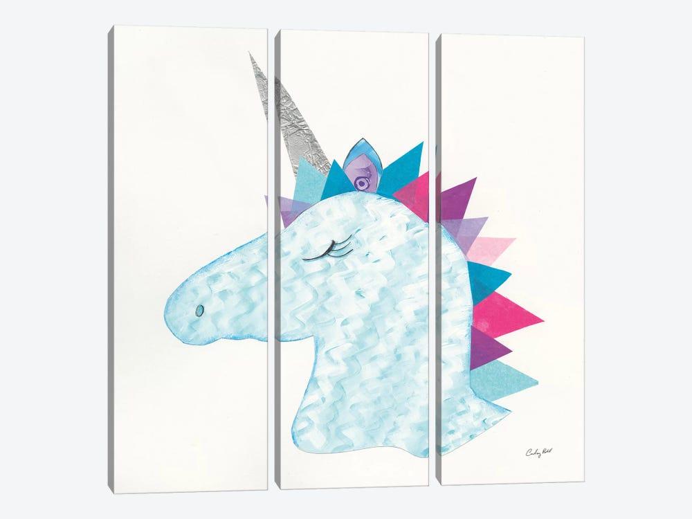 Unicorn Power II by Courtney Prahl 3-piece Canvas Art Print