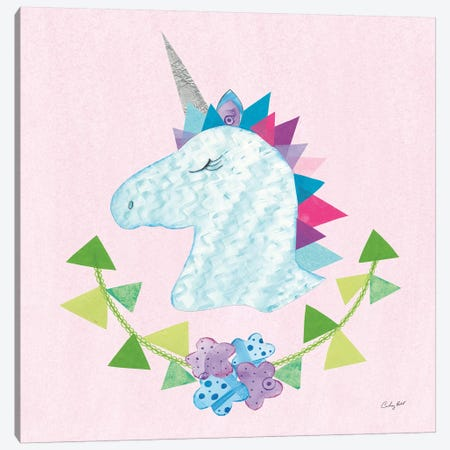 Unicorn Power IV Canvas Print #WAC9289} by Courtney Prahl Canvas Artwork