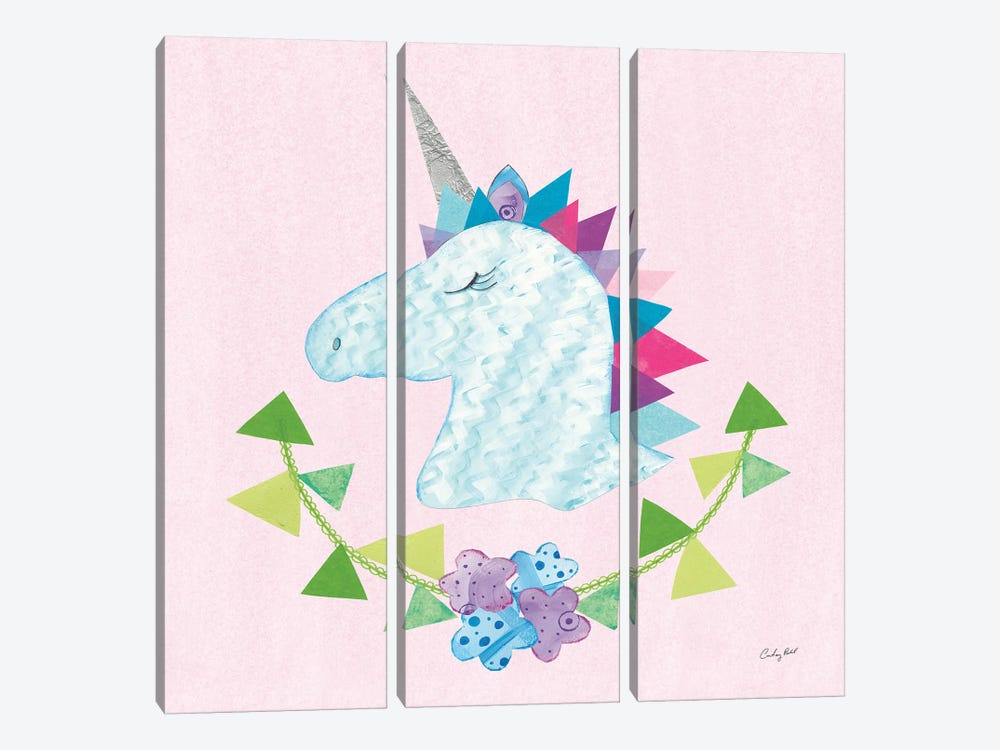 Unicorn Power IV by Courtney Prahl 3-piece Canvas Print