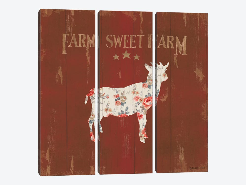 Farm Patchwork XI by Danhui Nai 3-piece Canvas Art Print
