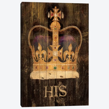His Majesty's Crown with word Canvas Print #WAC92} by Avery Tillmon Canvas Art