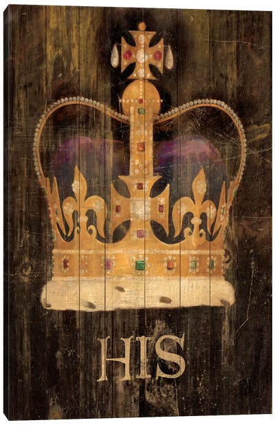His Majesty's Crown with word Canvas Art Print
